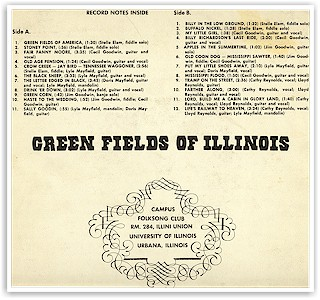 "Back cover of ""Green Fields of Illinois"""