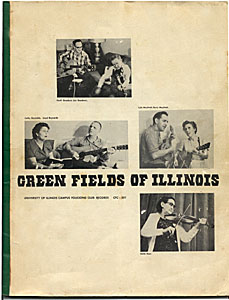 """Front cover of the booklet accompanying """"Green Fields of Illinois"""""""